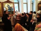 2018-10-13 Ученики школы №2 в храме Петра и Февронии